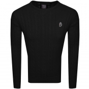 Product Image for Luke 1977 Hortons Cable Knit Jumper Black