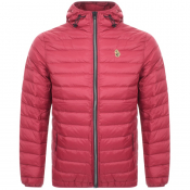 Product Image for Luke 1977 Quilted Hooded Jacket Red