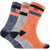 Superdry Mountaineer Triple Pack Socks Blue
