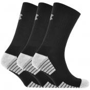 Under Armour Three Pack Heatgear Socks Black