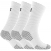 Under Armour Three Pack Heatgear Socks White