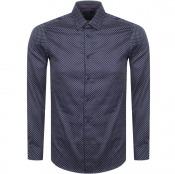 Ted Baker Long Sleeved Merci Shirt Navy