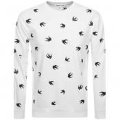 Product Image for MCQ Alexander McQueen Swallow Sweatshirt White