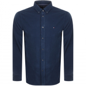 Tommy Hilfiger Long Sleeved Corduroy Shirt Navy