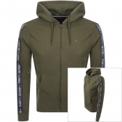 Tommy Hilfiger Lounge Icon Logo Zip Hoodie Green