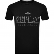Product Image for Replay Crew Neck Logo T Shirt Black
