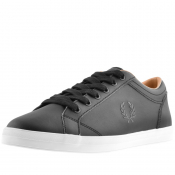 Fred Perry Baseline Leather Trainers Black