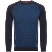 Product Image for Ted Baker Mailais Crew Neck Knit Jumper Navy