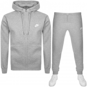 Nike Full Zip Club Tracksuit Grey