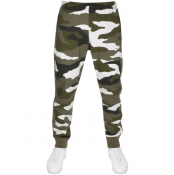 Nike Camouflage Jogging Bottoms Green