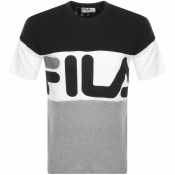 Product Image for Fila Vintage Vialli Logo Crew Neck T Shirt Black