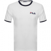 Product Image for Fila Vintage Rosco Crew Neck Ringer T Shirt White