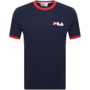Product Image for Fila Vintage Rosco Crew Neck Ringer T Shirt Navy