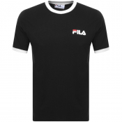 Product Image for Fila Vintage Rosco Crew Neck Ringer T Shirt Black