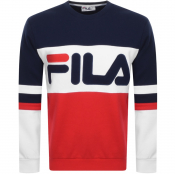 Product Image for Fila Vintage Freddie Colour Block Sweatshirt Navy