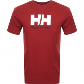 Helly Hansen Logo T Shirt Red