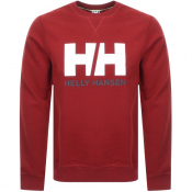 Helly Hansen Logo Crew Neck Sweatshirt Red