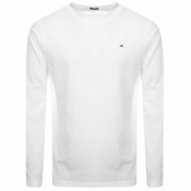Tommy Hilfiger Long Sleeved T Shirt White