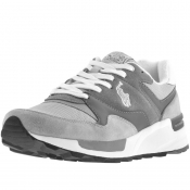 Ralph Lauren Track Star Suede Trainers Grey
