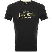 Product Image for Jack Wills Ormond Short Sleeved T Shirt Black