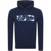 Product Image for Michael Kors Camouflage Logo Hoodie Navy
