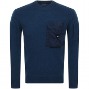 Product Image for CP Company Goggle Knit Jumper Blue
