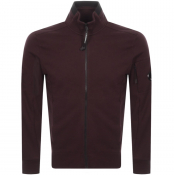 Product Image for CP Company Full Zip Sweatshirt Burgundy