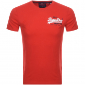 Product Image for Superdry Vintage Short Sleeved T Shirt Red