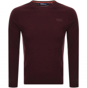Superdry Orange Label Knit Jumper Burgundy