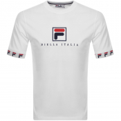 Product Image for Fila Vintage Rosso Logo Crew Neck T Shirt White