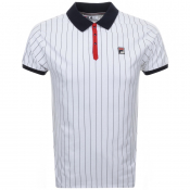 Product Image for Fila Vintage Pinstripe Polo T Shirt White