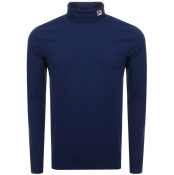 Fila Vintage Long Sleeve Roll Neck T Shirt Navy