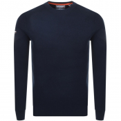 Superdry Academy Crew Neck Knit Jumper Navy
