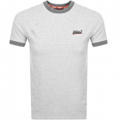 Superdry Orange Label Ringer T Shirt Grey