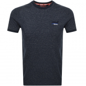 Superdry Orange Label Ringer T Shirt Navy
