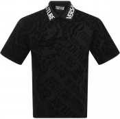 Versace Jeans Couture Short Sleeved Polo Black