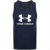 Under Armour Sportstyle Vest T Shirt Navy