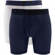 Under Armour 2 Pack Boxer Shorts Blue