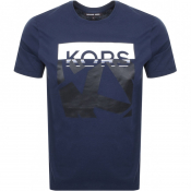 Product Image for Michael Kors Logo T Shirt Navy