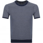Michael Kors Short Sleeved Stripe Jumper Navy
