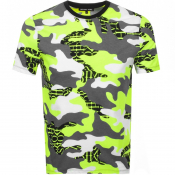 Product Image for Michael Kors Camouflage Logo T Shirt Yellow