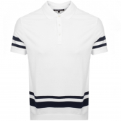Michael Kors Stripe Knitted Polo T Shirt White