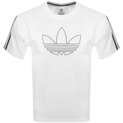 Product Image for adidas Originals Outline Trefoil T Shirt White