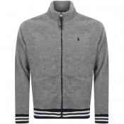 Ralph Lauren Fleece Track Jacket Grey