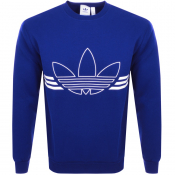 Product Image for adidas Originals Outline Logo Sweatshirt Blue