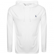Product Image for Ralph Lauren Long Sleeved Hooded T Shirt White