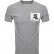 Kent And Curwen Rose T Shirt Grey
