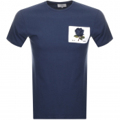 Kent And Curwen Rose T Shirt Blue