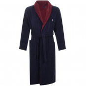 Product Image for Ralph Lauren Shawl Dressing Gown Navy