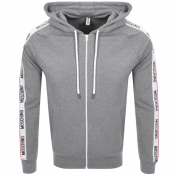 Product Image for Moschino Full Zip Logo Hoodie Grey